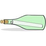 Messaggio in una bottiglia royalty illustrazione gratis