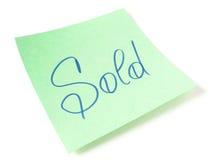 Messaggio venduto Immagine Stock