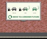 Messaggio verde del veicolo Fotografie Stock