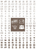 Messaging and Communication Line and Flat Vector Icon Pack Stock Photos