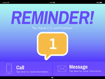 Messaging Communication Notification Alert Reminder Concept Royalty Free Stock Photography