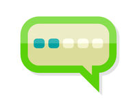 Messaging Icon Isolated. Comment Dialog Discussion Royalty Free Stock Images