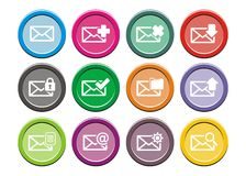 Messaging icons - round icon sets Stock Photo