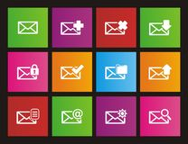 Messaging metro style icon sets Royalty Free Stock Images