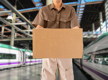 Messaging by train Stock Photography