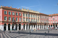 Messana square in Nice France. Massena square in Nice France Stock Images