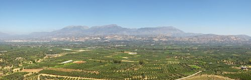 The Messara Plain on Crete Stock Image
