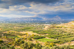 Messara Plain in Crete Stock Image