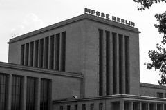 Messe buildings berlin germany in black and white Royalty Free Stock Photos