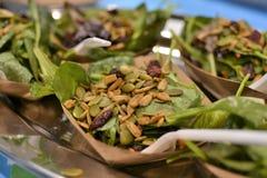 Messe Demo Healthy Food stockfotos