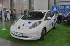 Messe der Ersten Internationale von Elektro-Mobilen Einsteck-Ukraine in Kiew Stockfotos