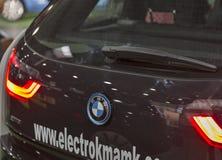 Messe der Ersten Internationale von Elektro-Mobilen Einsteck-Ukraine in Kiew Lizenzfreies Stockfoto