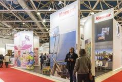 Messe des internationalen Handels Mosbuild Lizenzfreie Stockbilder