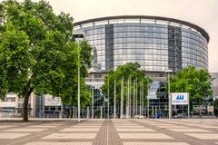 Messe kongressmitt i Frankfurt - f.m. - strömförsörjning Arkivbild