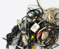 Messe of old cables Stock Images