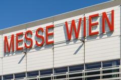 Messe Wien budynek W Wiedeń (targ handlowy Wiedeń) Obraz Stock