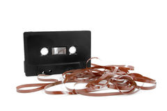 Messed up audio cassette tape Royalty Free Stock Photo