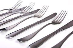 Messen en vorken Royalty-vrije Stock Foto