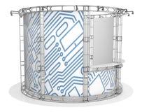 Messenbinder, Ausstellungspavillon Abbildung 3D Vektor Abbildung
