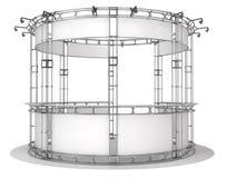 Messenbinder, runder Ausstellungspavillon Abbildung 3D Lizenzfreie Abbildung