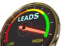Messende Führungen gerade lizenzfreie abbildung