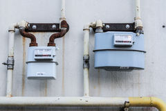 Messender Naturgasfluß lizenzfreie stockfotos