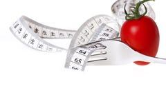 Messendes Band - gesunde Nahrung und Diät stockbild