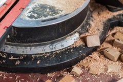Messendes Hilfsmittel des Holzbearbeitungswinkels Stockbild