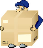 Messenger. With big cargo in hands Stock Image