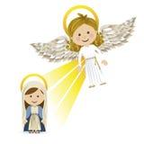 Messenger angel. Over white background vector illustration Stock Photography
