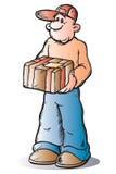 Messenger boy,. Messenger boy with urgent package Stock Photos