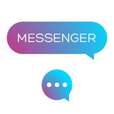 Messenger icon vector Stock Images