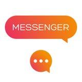 Messenger icon vector Stock Photo