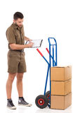 Messenger making an inventory Stock Photography