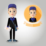 Messenger Mascot cartoon great for any use. Vector EPS10. Royalty Free Stock Photo