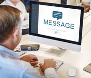 Messenger Social Online Homepage Concept Royalty Free Stock Photo