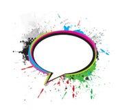 Messenger window icon. Grunge messenger window icon vector illustration, isolated on white background Royalty Free Stock Images