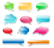 Messenger windows glossy web elements Royalty Free Stock Photography