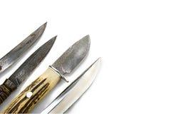 Messer auf weißem Hintergrund Lizenzfreies Stockfoto