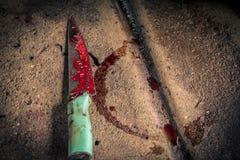 Messer benutzt für Schlachthaus Stockbild