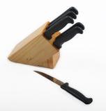 Messer-Block und Messer Stockfoto