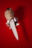 Messer in der Hand Lizenzfreie Stockbilder