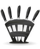 Messer eingestellt für die Küchenvektorabbildung Stockfotografie