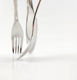Messer, Gabel und Löffel Stockfoto