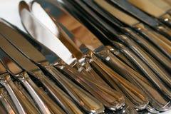 Messer gelegt in Ordnung Stockbilder