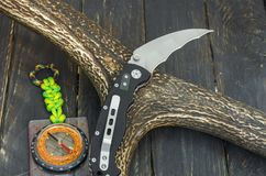 Messer mit Radial-hawkbill Blatt lizenzfreie stockbilder