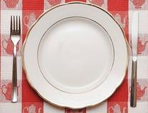 Messer, Platte und Gabel Lizenzfreie Stockbilder