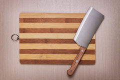 Messer und Ausschnittvorstand Lizenzfreies Stockbild