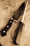 Messer und Bleistiftspitzer Stockbilder