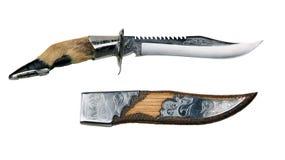 Messer und Fall Lizenzfreies Stockfoto